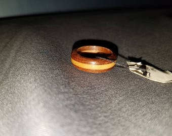 Walnut and Maple Wood Ring