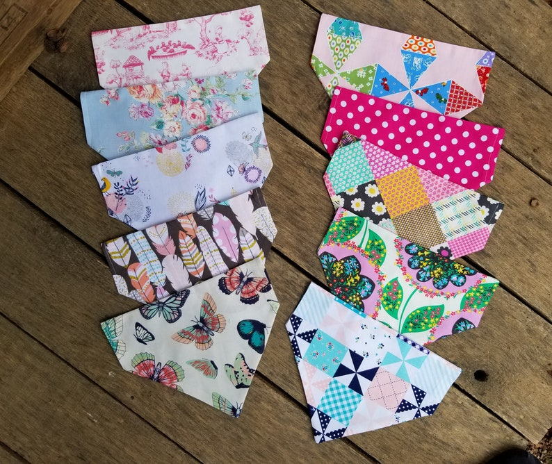 over-the-collar Dog or Cat Bandanas boutique fundraising slide on dog groomer Wholesale Lot of 100 mixed sizes pet boutique