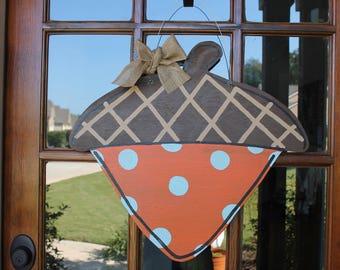 Fall Acorn Wooden Door Hanger