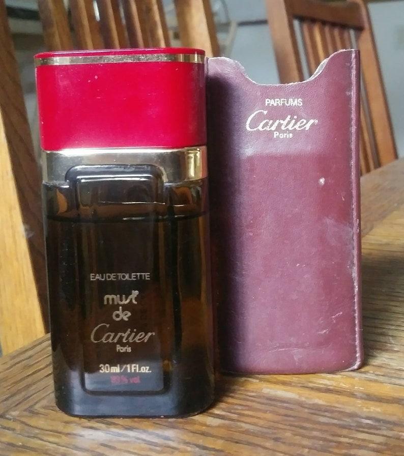 Original 1981 Must De Cartier Edt Splash Perfume 1 Oz 30ml Etsy