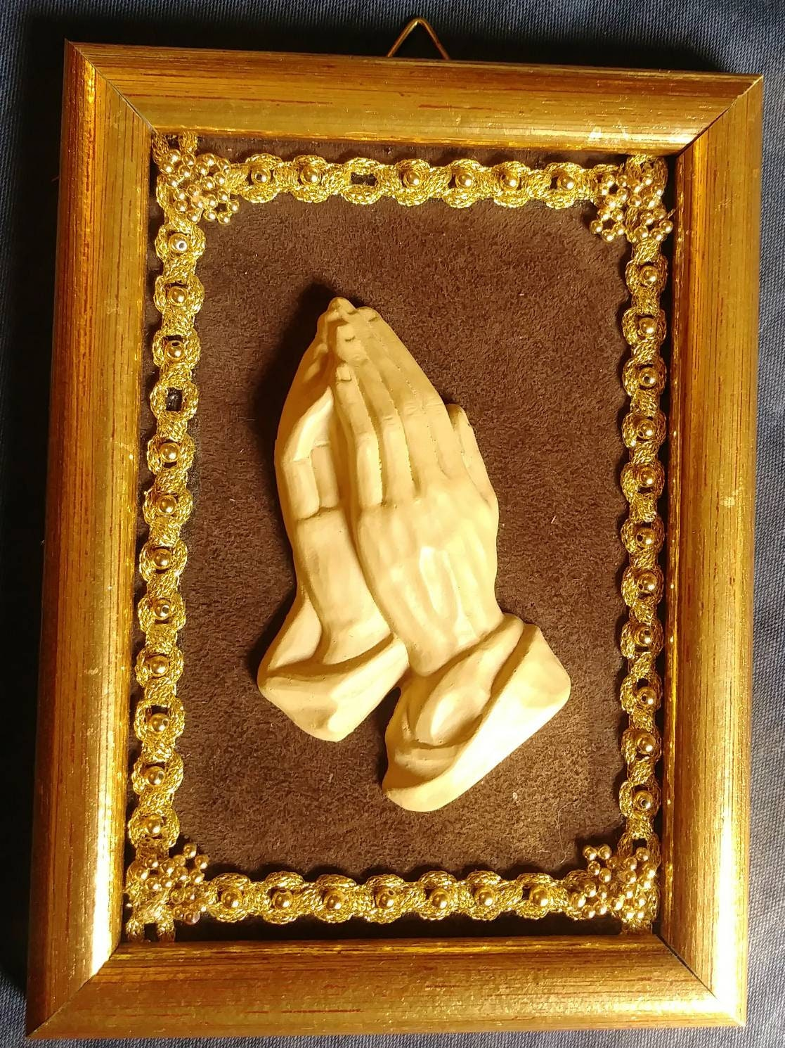 Vintage 1950s German Wall Hanging Praying Hands Religious   Etsy