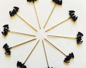 Bat headed sewing pins