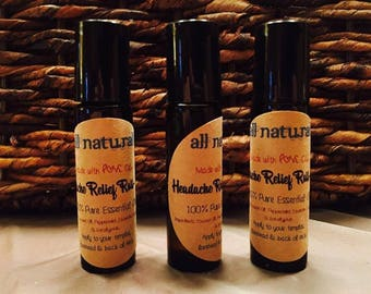 Headache Relief Roll-On Blend (All-Natural)