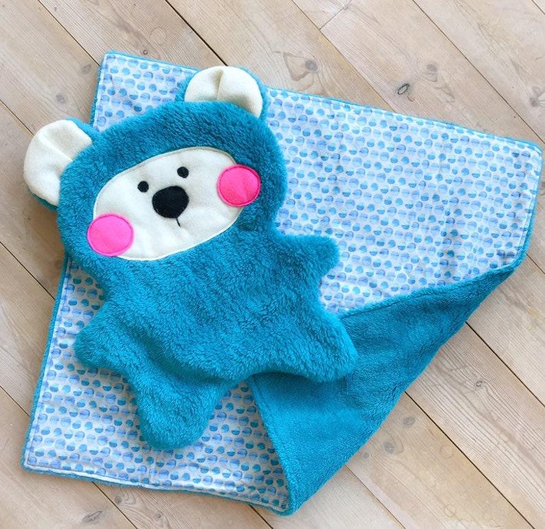 Baby Security Blanket Set with Plush Animal Soft Plush Fleece Baby Shower Gift