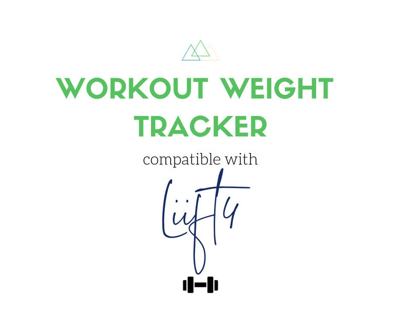 Weight Tracker Excel Spreadsheet - Compatible with LIIFT4