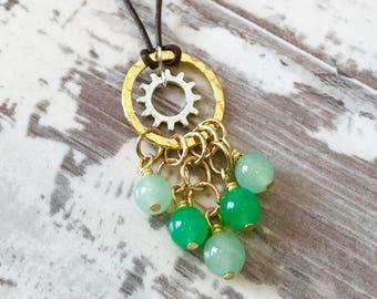 Aventurine Green Bicycle Necklace / Bike Necklace, Bike Jewelry, Bicycle Jewelry, Bicycle Gifts, Handmade Bicycle, Cyclist Jewelry, Biker