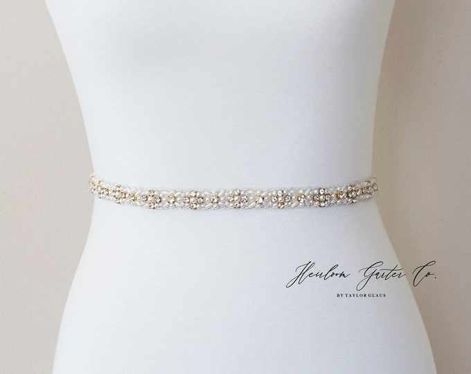 Pearl Bridal Belt, Rhinestone Bridal Belt, bridesmaid belt, Bridal Sash, Wedding Belt, Wedding Sash Rhinestone Sash B01G