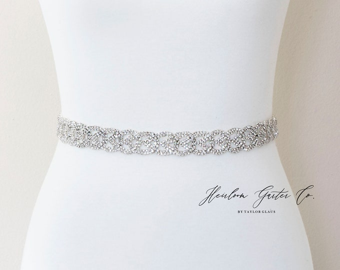 Bridal Belt, Floral Rhinestone Bridal Sash, Beaded Bridal Sash, Wedding Belt, Wedding Sash Rhinestone Sash B125S