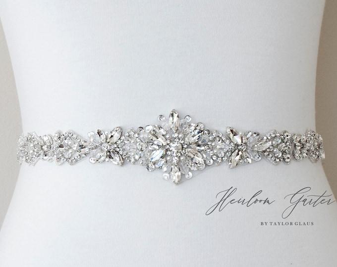Beaded Bridal Belt, Rhinestone Bridal Sash, Beaded Bridal Sash, Wedding Belt, Wedding Sash B107S