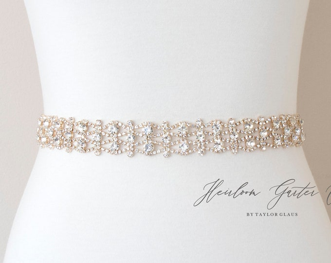 Beaded Bridal Belt, Rhinestone Bridal Sash, Beaded Bridal Sash, Wedding Belt, Wedding Sash B109G