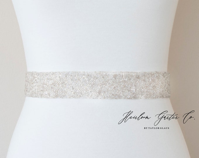 Beaded Bridal Belt, Rhinestone Bridal Sash, Beaded Bridal Sash, Wedding Belt, Wedding Sash B105