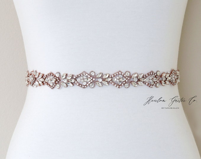 Rhinestone Belt, Crystal Bridal Belt, Bridal Sash, Wedding Belt, Wedding Sash Rhinestone Sash B103RG