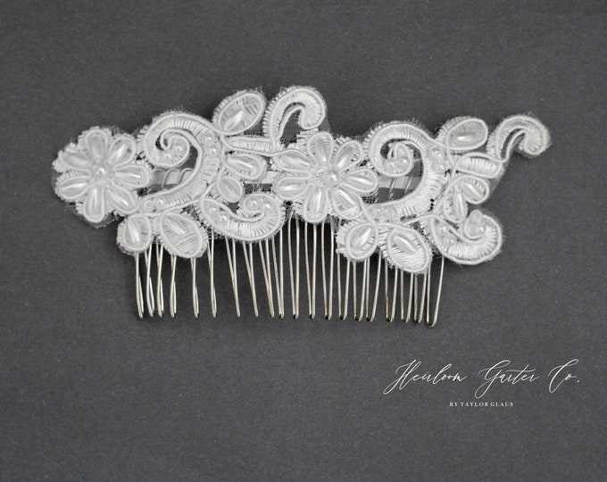 Floral Wedding Hair Comb, Pearl and Rhinestone, Bridal Headpiece, Rhinestone Hairpiece, Hair Tiara, Hair Jewelry, Bridesmaid 40