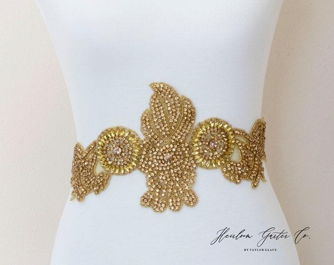 Wedding Dress Belt, Bridal Sash, Wedding Belt, Wedding Sash Rhinestone and Pearl Sash, B116