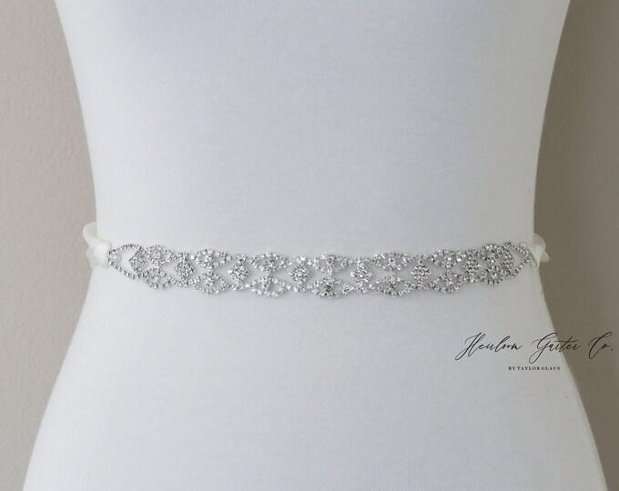 Rhinestone Belt, Crystal Bridal Belt, Bridal Sash, Wedding Belt, Wedding Sash Rhinestone Sash B104S