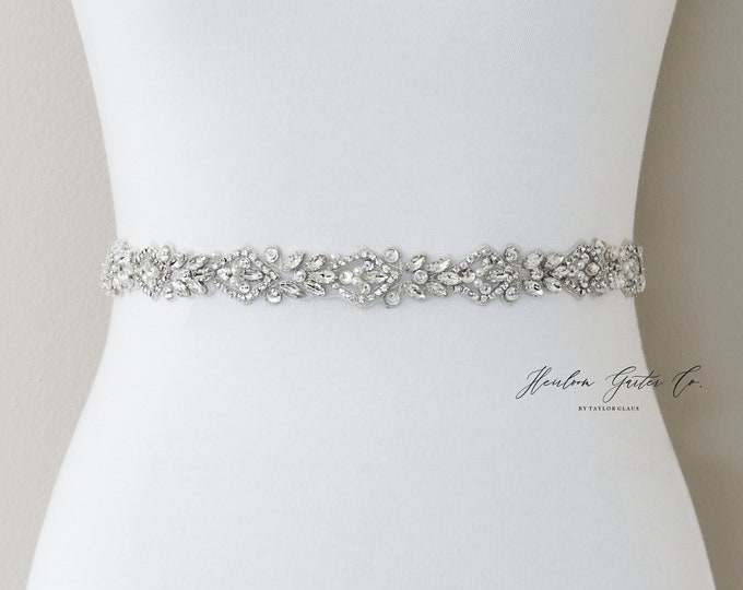 Rhinestone Belt, Crystal Bridal Belt, Bridal Sash, Wedding Belt, Wedding Sash Rhinestone Sash B103S