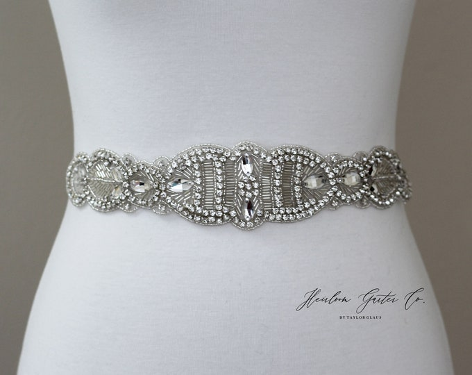 Bridal Belt, Bridal Sash, Beaded Bridal Sash, Wedding Belt, Wedding Sash Rhinestone Sash B56