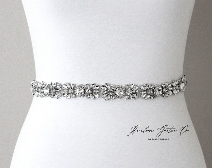 Bridal Belt, Prom Belt, Rhinestone Bridal Sash, Beaded Bridal Sash, Wedding Belt, Wedding Sash Rhinestone Sash B98S