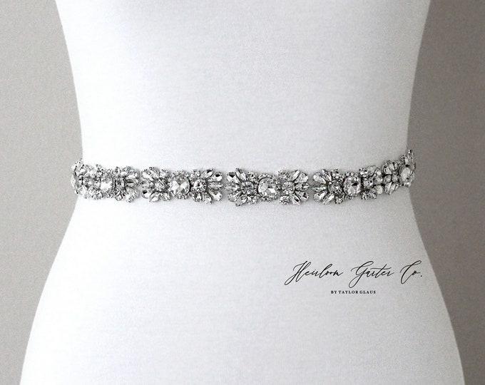 Bridal Belt, Prom Belt, Rhinestone Bridal Sash, Beaded Bridal Sash, Wedding Belt, Wedding Sash Rhinestone Sash B98S