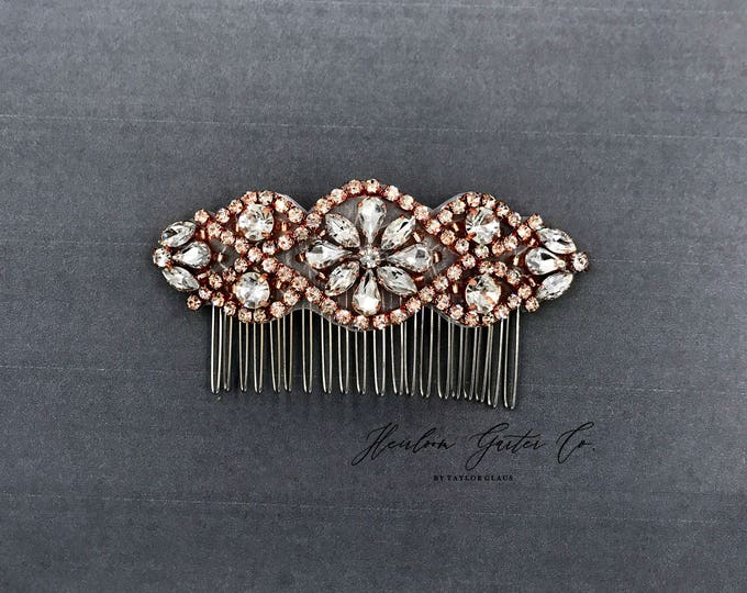 Bridal Wedding Haircomb, flower girl hairpiece Bridal Headpiece, Rhinestone Hairpiece, Hair Tiara, Hair Jewelry, Bridesmaid, 02RG