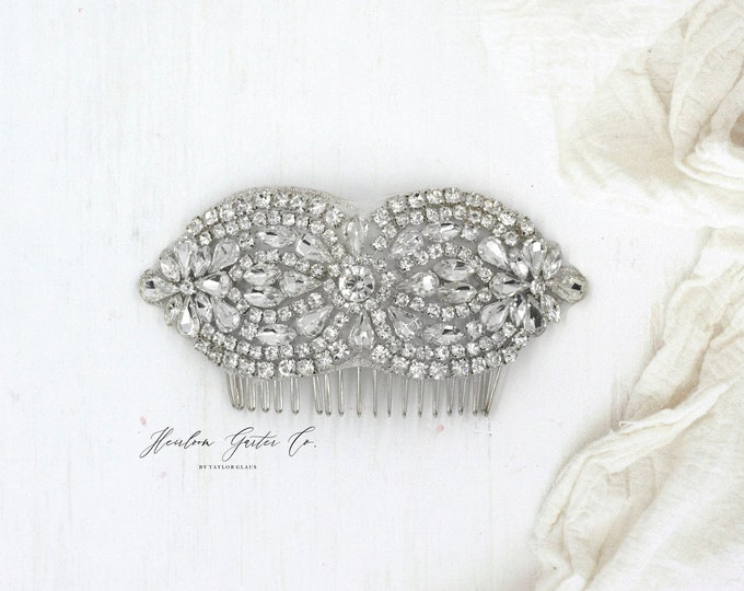 Wedding Hair Comb, Pearl and Rhinestone, Bridal Headpiece, Rhinestone Hairpiece, Hair Tiara, Hair Jewelry, Bridesmaid, Hair comb 44