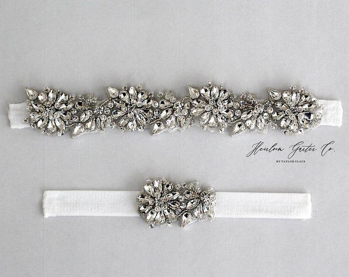 Rhinestone Wedding Garter Set , Elegant Wedding Garter, bridal garter EB59-EB59