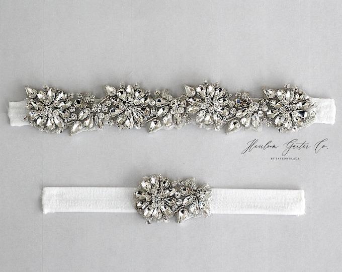 Rhinestone Wedding Garter Set , Elegant Wedding Garter, bridal garter EB59-EB59