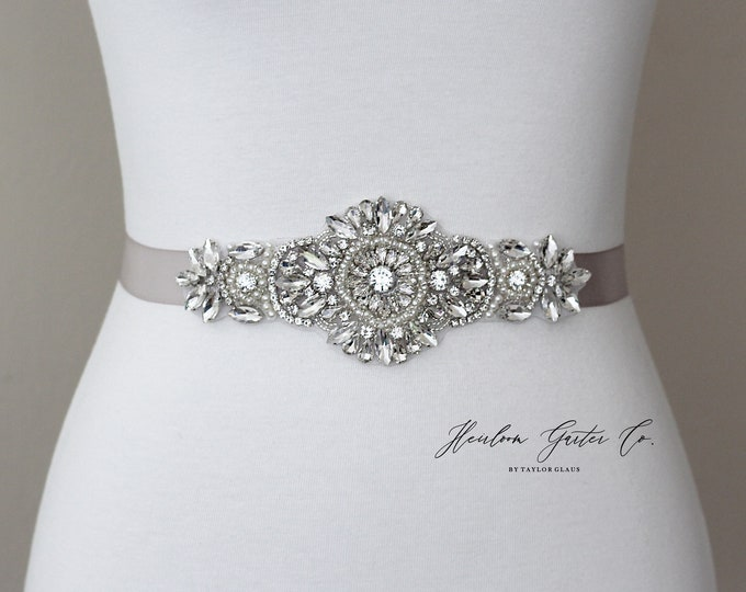 Bridal Belt, Bridal Sash, Beaded Bridal Sash, Wedding Belt, Wedding Sash Rhinestone Sash 56S