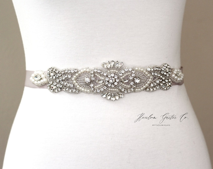 Bridal Belt, Bridal Sash, Beaded Bridal Sash, Wedding Belt, Wedding Sash Rhinestone Sash B50