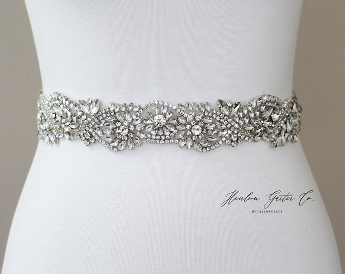 Bridal Belt, Bridal Sash, Beaded Bridal Sash, Wedding Belt, Wedding Sash Rhinestone Sash B57S