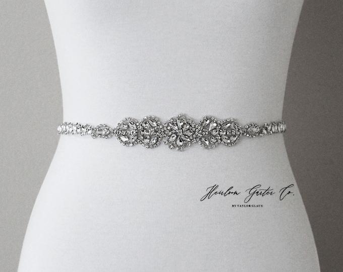 Bridal Belt, Silver crystal Bridal Belt, Bridal Sash, Wedding Belt, Wedding Sash Rhinestone prom belt B99