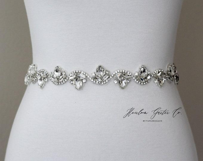 Bridal Belt, Prom Belt, Rhinestone Bridal Sash, Beaded Bridal Sash, Wedding Belt, Wedding Sash Rhinestone Sash B93S