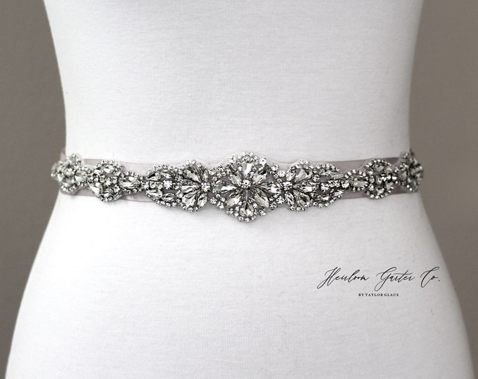 Bridal Belt, Bridal Sash, Beaded Bridal Sash, Wedding Belt, Wedding Sash Rhinestone Sash B51S