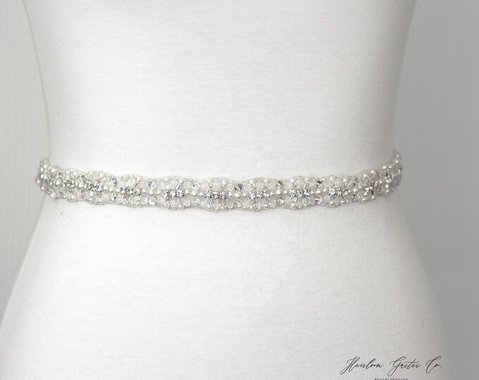 Rhinestone Belt, Crystal Bridal Belt, Bridal Sash, Wedding Belt, Wedding Sash Rhinestone Sash B39