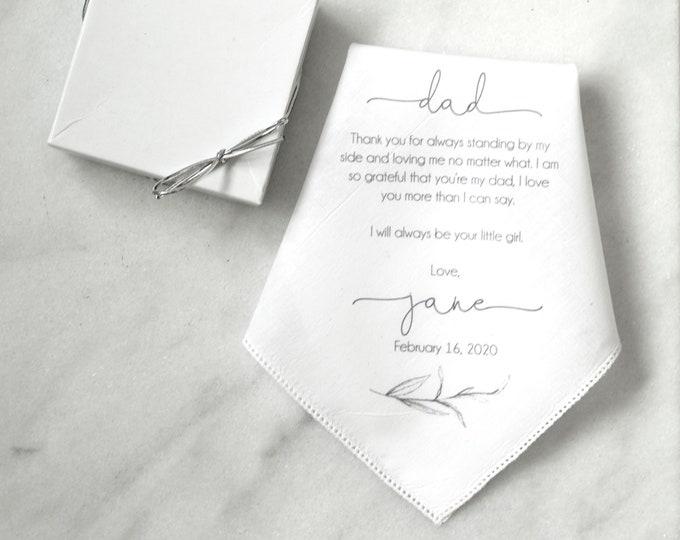 Custom wedding handkerchief, custom handkerchief, father of the bride gift, handkerchief PRINTED Style 004