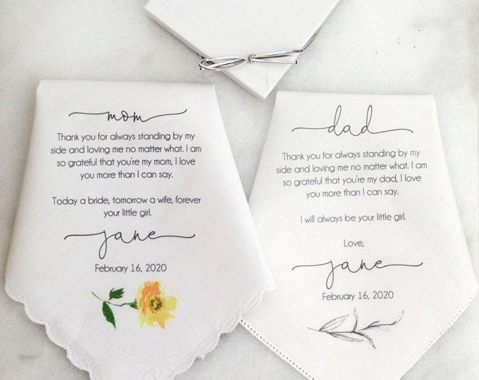 Custom wedding handkerchief, custom handkerchief, mother of the bride gift, custom printed wedding handkerchief PRINTED