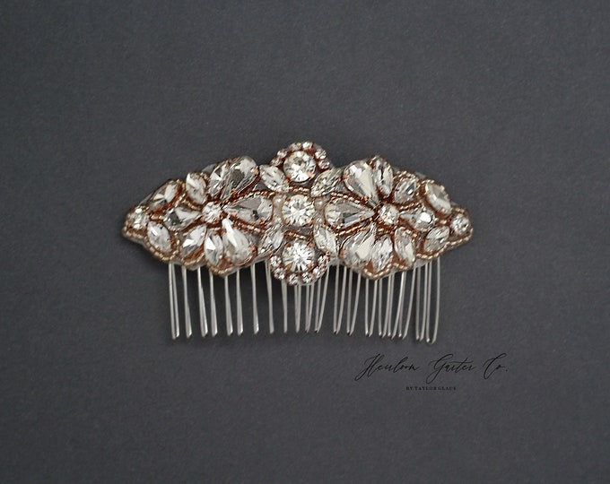 Wedding Hair Comb, Pearl and Rhinestone, Bridal Headpiece, Rhinestone Hairpiece, Bridesmaid, Hair Accessory, 53RG