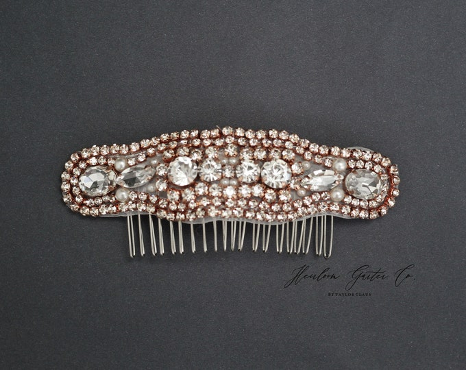 Wedding Hair Comb, Pearl and Rhinestone, Bridal Headpiece, Rhinestone Hairpiece, Bridesmaid, Hair Accessory