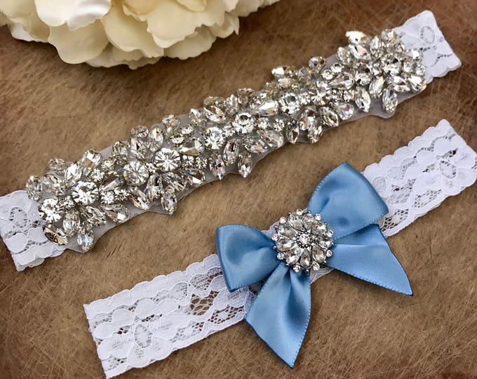 Wedding Garter set, NO SLIP grip Lace Wedding Garter Set, bridal garter set, IVORY CB04S-C29
