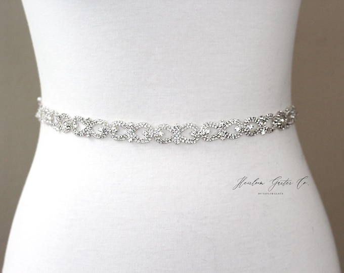 Bridal Belt, Bridal Sash, Beaded Bridal Sash, Wedding Belt, Wedding Sash Rhinestone Sash B55S