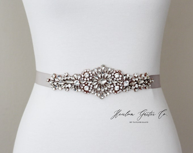 Rhinestone Bridal Belt, Bridal Sash, Beaded Bridal Sash, Wedding Belt, Wedding Sash Rhinestone Sash 73RG