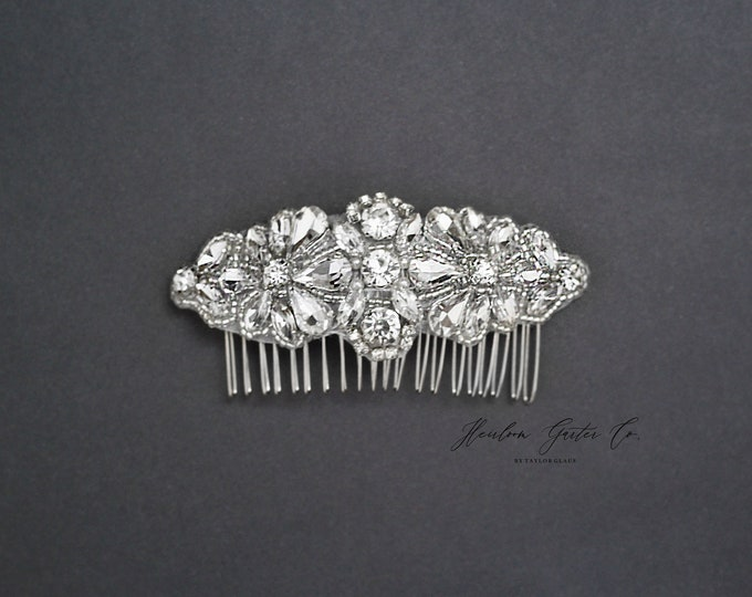 Wedding Hair Comb, Pearl and Rhinestone, Bridal Headpiece, Rhinestone Hairpiece, Bridesmaid, Hair Accessory, 53S