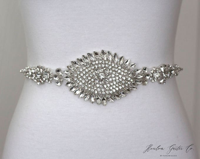 Wedding Dress Belt, Bridal Sash, Wedding Belt, Wedding Sash Rhinestone and Pearl Sash, B41