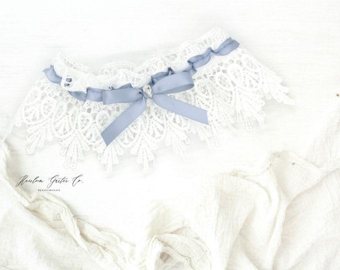 Wedding Garter, Dainty Lace Wedding Garter Set, bridal garter 77
