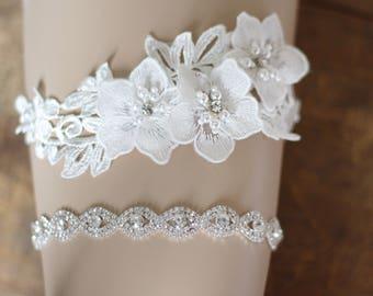Crystal Wedding Garter set ede67c7a8