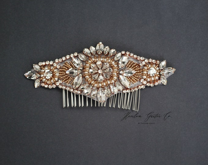Wedding Hair Comb, Pearl and Rhinestone, Bridal Headpiece, Rhinestone Hairpiece, Bridesmaid, Hair Accessory,