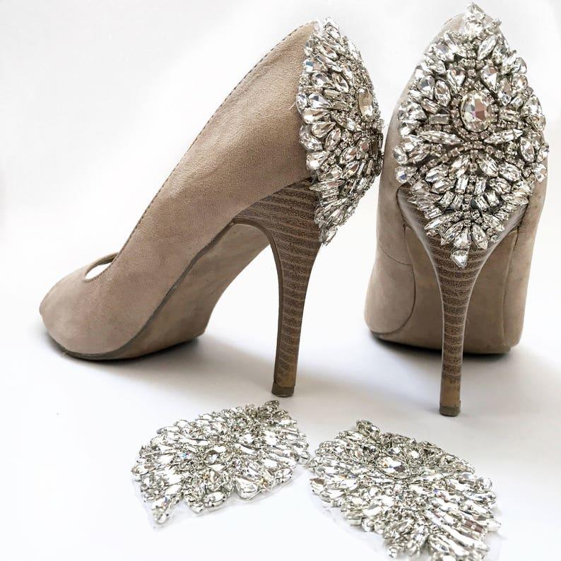 915c32869c7c76 Wedding shoes DIY crystal wedding shoe appliques kit 09S