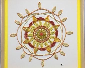 Pat Orange Quilled Mandala