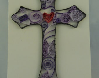 Cross Blank Quilled Card