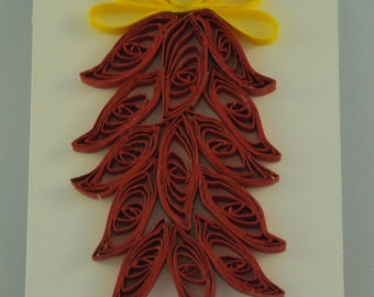 Quilled Ristra Card